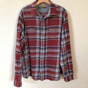 Tailor Vintage Plaid Fleece Button Down Size XL